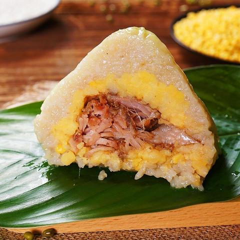 皇中皇 肇庆特产传统裹蒸粽猪肉绿豆多馅料早餐组合  400gx3只