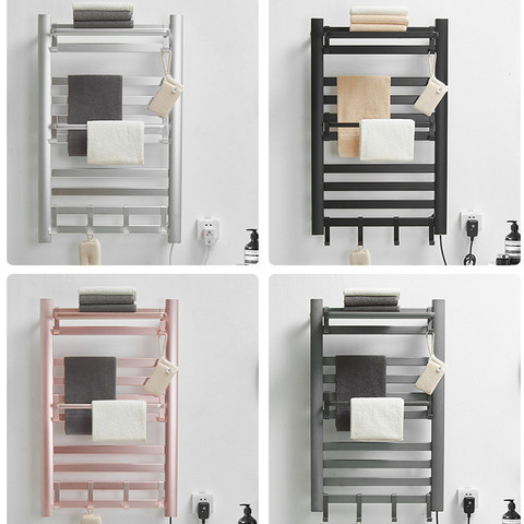 华耐智能电热毛巾架家用浴室挂件卫生间电加热恒温烘干浴巾置物架