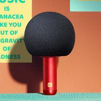 优惠券码:唱吧 Q5 小巨蛋麦克风 海绵款 红色