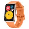 HUAWEI 华为 WATCH FIT 智能手表 46mm 金色表盘 蜜瓜橙硅胶表带(血氧、GPS、NFC、扬声器、温度计)