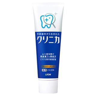 LION 狮王 CLINICA齿力佳 酵素立式牙膏 温和薄荷型 130g 牙周护理 清新口气 多重功效