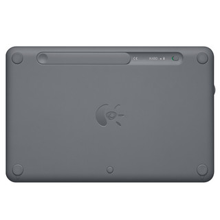 logitech 罗技 K480 79键 蓝牙无线薄膜键盘 黑色 无光