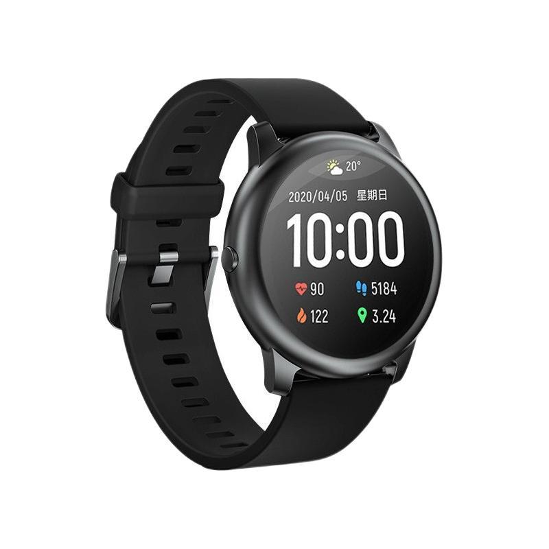 MI 小米 Solar LS05 智能手表 45.3mm 黑色金属表盘 黑色硅胶表带