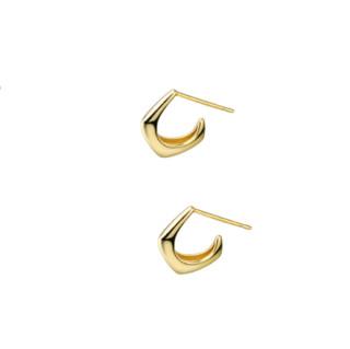 Ranrou 冉柔 1162041143819730 C型925银耳钉 金色