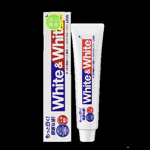 LION 狮王 Lion)White&white 美白 牙膏 150g(日本原装进口)