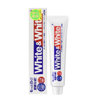 LION 狮王 狮王(Lion)White&white 美白 牙膏 150g(日本原装进口)