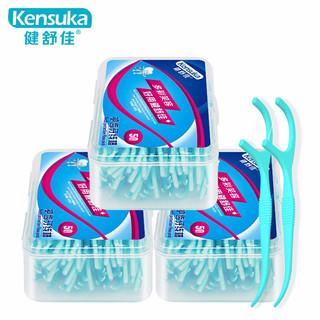 健舒佳  牙线棒 顺滑洁齿高分子圆线 50支*3盒