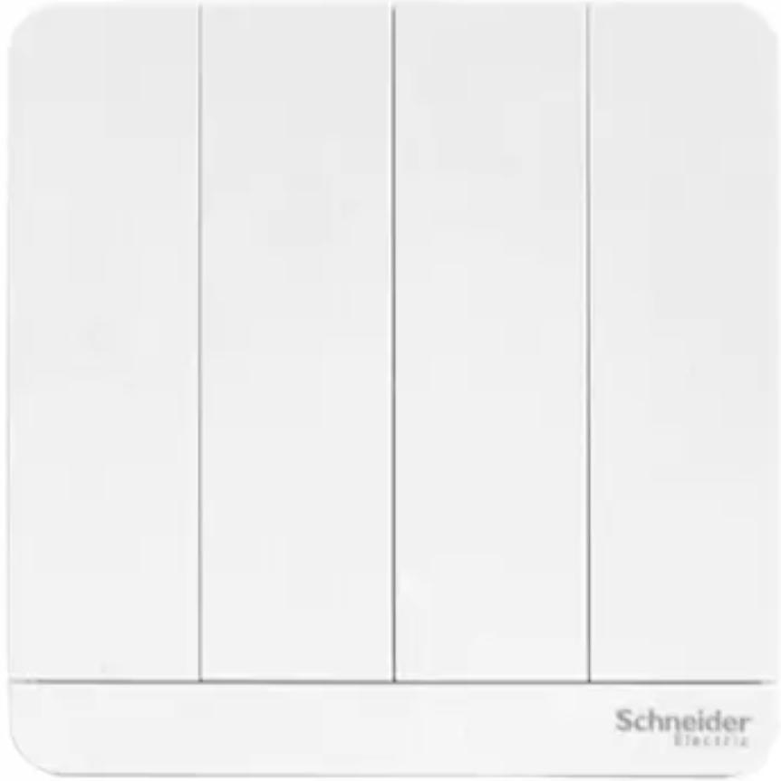 Schneider Electric 施耐德电气 AvatarOn绎尚系列 E8334L2_WE_C1 四开双控开关 镜瓷白