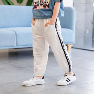 左西 ZK192085 男童休闲裤 白色 150cm