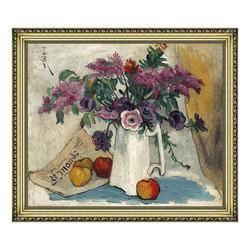 雅昌 潘玉良《紫藤萝与红苹果》71×61cm 装饰画 油画布