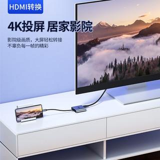 优越者(UNITEK)Type-C扩展坞 USB-C转双HDMI转换器双接大屏4K60Hz投屏转换线拓展坞 V404B