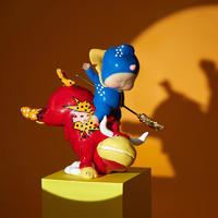 稀奇艺术 瞿广慈《牛霸天》17.5X10X20cm 雕塑 玻璃钢着色