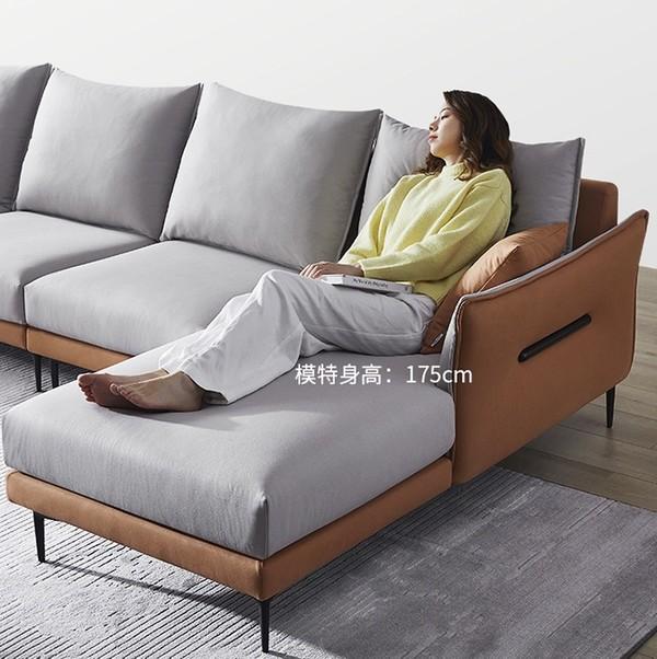 小编精选、新品发售:源于中国色彩美学的沙发——左右 DZY5102 科技布沙发