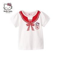 Hello Kitty 凯蒂猫 女童圆领短袖T恤
