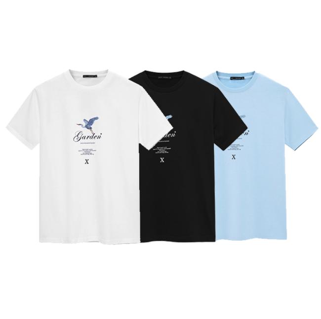 PEACEBIRD 太平鸟 BWDAB2396 男士印花短袖T恤