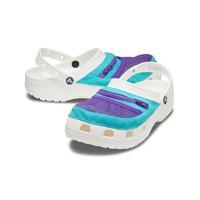 Crocs男鞋卡骆驰口袋潮流时尚休闲鞋情侣款沙滩鞋凉鞋206612 白色/孔雀蓝-1DQ 41/42(260mm)