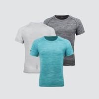 制者  男士水彩纹持久抑菌织带运动短T恤
