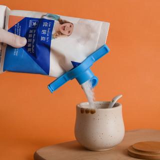 6个食品袋封口夹调料洗衣奶粉袋出料嘴密封盖子零食防潮夹封口器