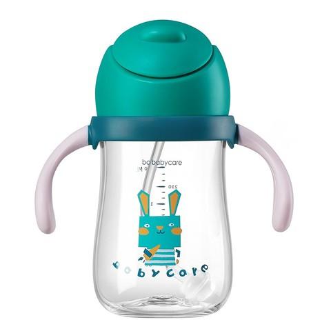 babycare 婴儿学饮杯宝宝喝奶喝水杯240ml儿童吸管鸭嘴杯防喷溅1个
