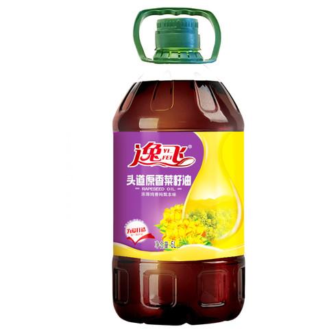 逸飞 头道原香菜籽油5L 食用油
