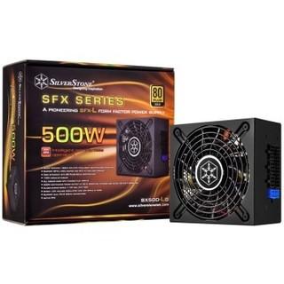 银欣 额定500W SX500-LG SFX-L电源(金牌全模/主动式PFC/柔软扁平模组线)