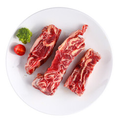 原切牛肋条段(纯肉无骨)900g*2件+谷饲牛脊骨800g(也可搭配14.4元/片的牛排)