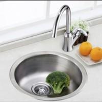 MOEN 摩恩 23607 不锈钢单槽圆形龙头水槽
