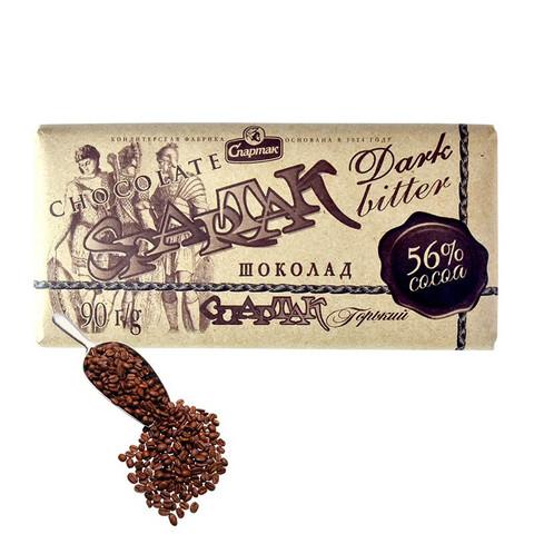 俄罗斯进口斯巴达克牌黑巧克力72% 90%可可含量黑巧苦巧纯可可运动代餐饱腹网红零食品 斯巴达克56%巧克力90g