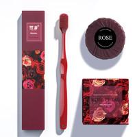 可洁可净 高密度软毛牙刷(赠 大马士革玫瑰精油皂100g)