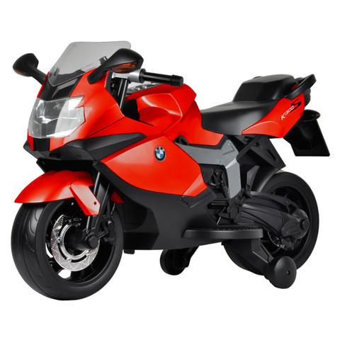智乐堡(CHILOKBO) 儿童电动摩托车 男女宝马玩具电瓶车可坐 可换档音乐多功能童车 红色