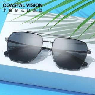 Coastal Vision 镜宴 镜宴 男士太阳镜 男偏光太阳眼镜 驾驶墨镜时尚潮流CVS7029DG 枪色
