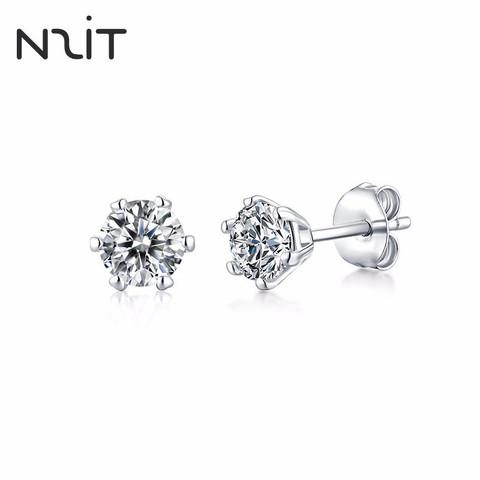 N2IT六爪耳钉仿钻石莫桑石耳钉