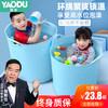 儿童洗澡桶婴儿保温沐浴桶加厚手提洗澡盆塑料宝宝小孩可坐泡澡桶 樱花粉