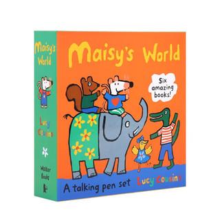 凯迪克图书 点读版小鼠波波Maisy 6册橙盒机关书套装 语感语法启蒙 2-6岁# 3册纸板翻翻抽拉书+3册贴纸书