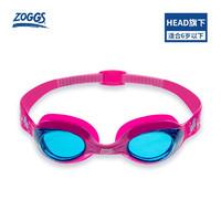 ZOGGS英国 儿童泳镜 游泳泳镜  可调节镜带防雾防水 306515-粉红