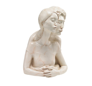 稀奇(XQ) 向京作品《因為愛情》限量版雕塑 梔子花 31.5x22.0x24.0CM 2014年 玻璃鋼著色(手繪) 簽名限量999件
