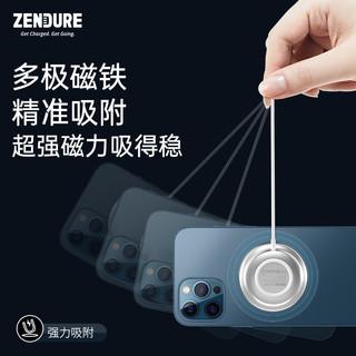 zendure 征拓 苹果12MagSafe无线充电器磁吸式iPhone12ProMax专用10W手机11快充底座板20PD头Mini配件磁力快充