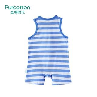 Purcotton 全棉时代 婴儿针织无袖连体服