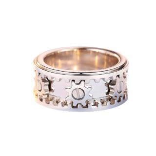 爱朵钻 AP7061M 男士齿轮Pt950铂金戒指