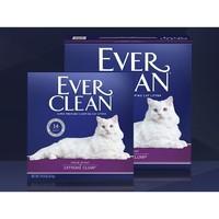 PLUS会员:EverClean 铂钻 活性炭除臭猫砂 紫标 1.3kg*2