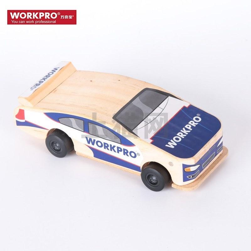 【包邮】WORKPRO/万克宝-木制儿童玩具-塑轮赛车-(W135006N)/1个
