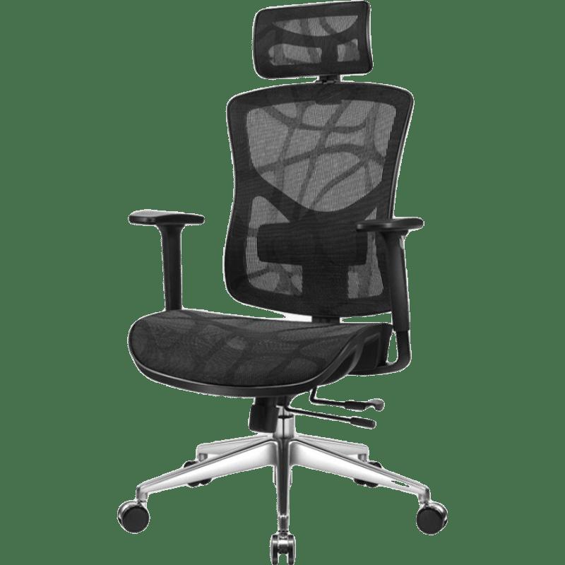 有谱 启承 人体工学椅 黑框黑网