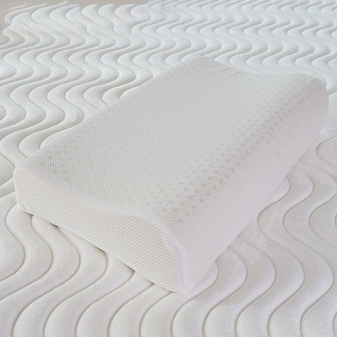 清幽 清新波浪乳胶枕+随机内套 简装 44*27*5/7cm便携款