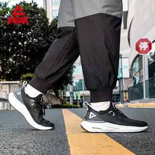 匹克 态极3.0缓震跑鞋情侣款男女时尚百搭耐磨运动鞋 黑色/大白(男款) 41