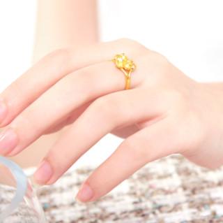 CHOW TAI FOOK 周大福 花月佳期系列 F165644 女士茉莉足金戒指