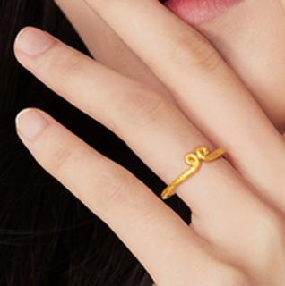 CHOW TAI FOOK 周大福 F198307 男士紧箍咒足金戒指