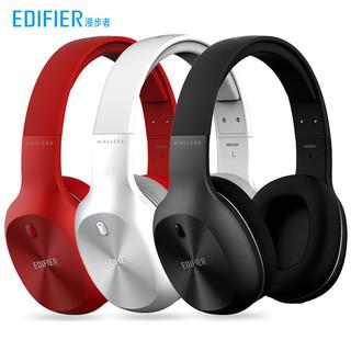 品牌漫步者W800BT PLUS无线蓝牙耳机头戴式电脑耳麦游戏手机运动降噪全包耳带K歌话筒2021年新款超长待机听歌 苍穹黑
