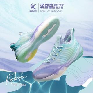 安踏KT6Low篮球鞋男2021夏季新款汤普森实战低帮透气球鞋运动鞋男官方旗舰网店 行云流水-1 42