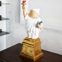 稀奇艺术 瞿广慈《自由男神》41x16x13cm 雕塑 玻璃钢手工上色