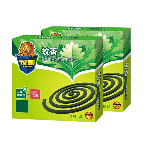 SUPERB 超威 微烟艾草蚊香 10单盘/盒